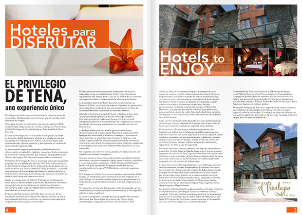 Aragon Guide Magazine, El Privilegio de Tena