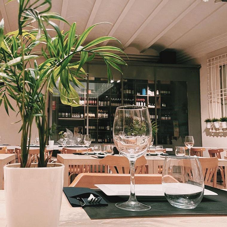 mesa del restaurante Cantina Borago