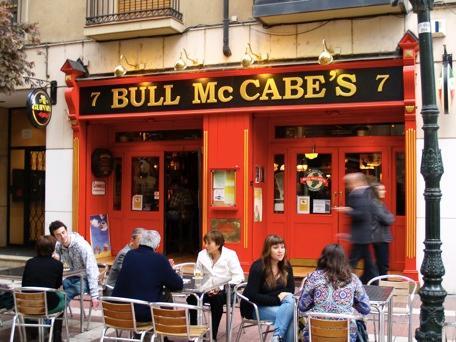 Vista del Pub Irlandés Bull McCabes