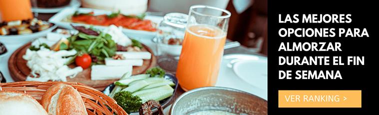 Las mejores opciones para almorzar durante el fin de semana