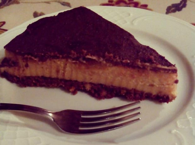 Tarta de chocolate y pera