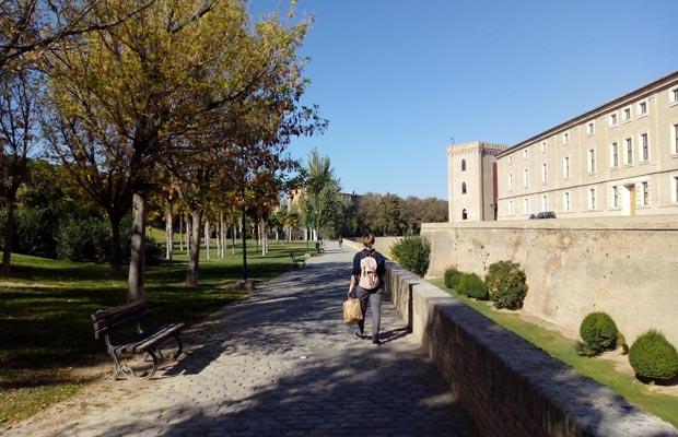 Paseando por el Parque de la Aljafería