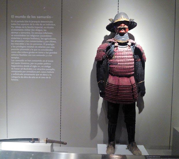 Armadura samurai de la colección de arte oriental Federico Torralba