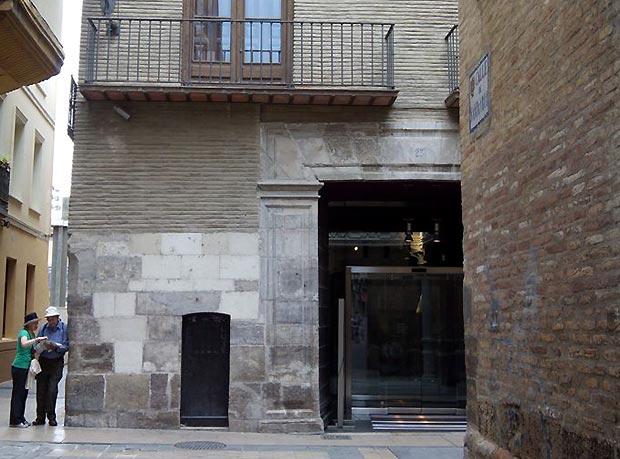 Entrada del Museo Goya de Zaragoza