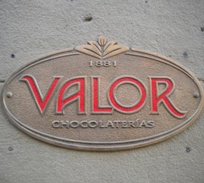 Chocolates Valor en Zaragoza