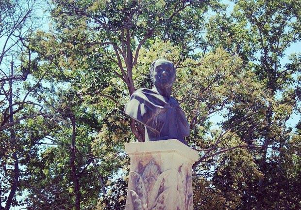 Estatua dedicada a Simón Bolívar