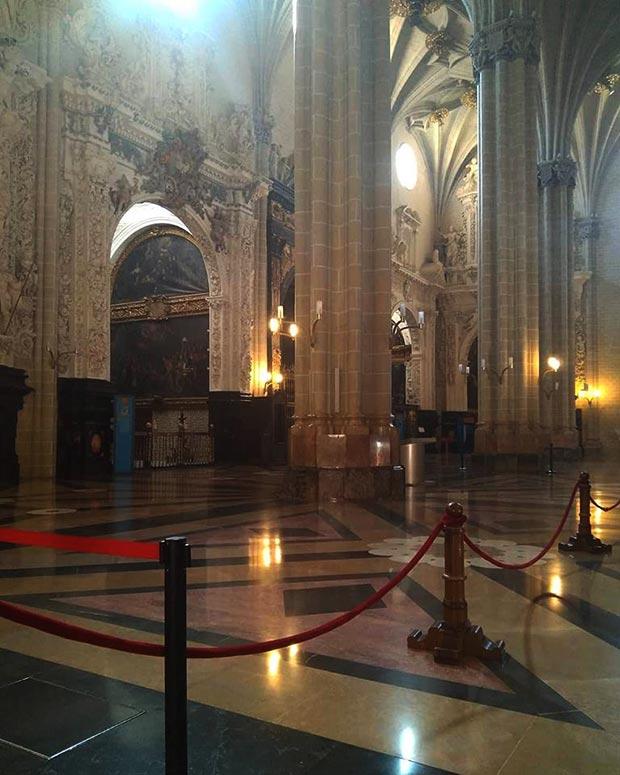 Interior de la La Catedral de San Salvador o La Seo