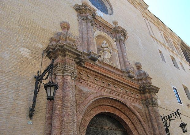 Fachada del Antiguo Seminario de San Carlos Borromeo, en este lugar estuvo la sinagoga mayor de Zaragoza