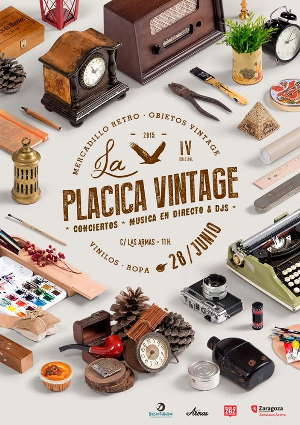 Cartel Placica Vintage 2015
