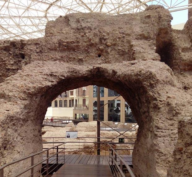 Restos de los graderios. Museo del teatro de Caesaraugusta #zaragoza
