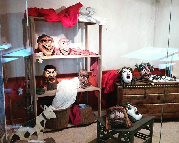 Mascaras teatrales. Museo del Teatro de Caesaraugusta #zaragoza