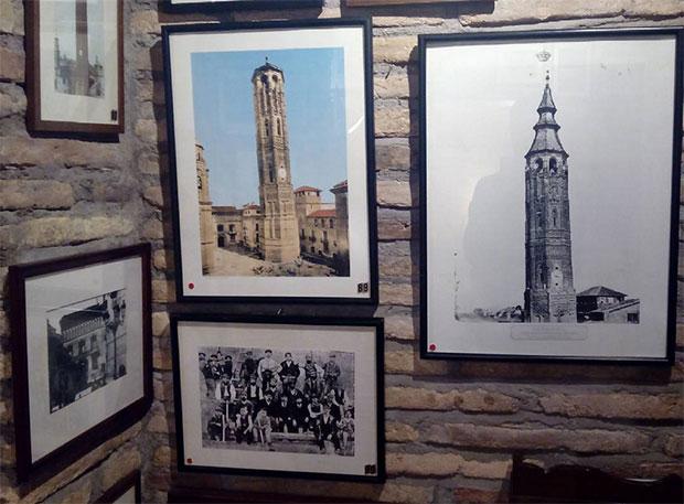 Grabados y dibujos de la Torre Nueva, en el museo dedicado al desaparecido monumento en los bajos de Casa Montal (Plaza San Felipe)