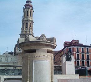 Vista del Hotel Tibur desde la Plaza del Pilar