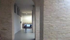 Exposición de paleontología en el Museo de Ciencias Naturales, en el Paraninfo