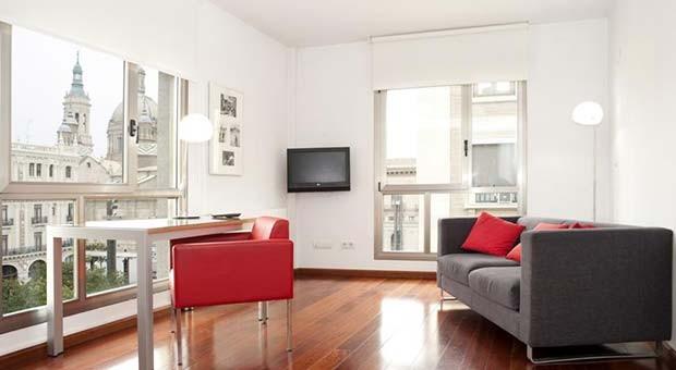 Cuarto de Estar en los Apartamentos Sabinas El Pilar