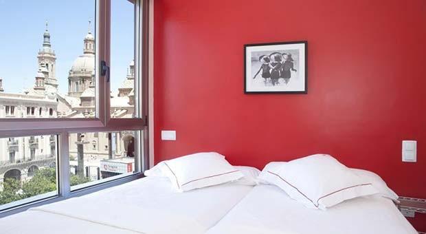 Dormitorio en los Apartamentos Sabinas El Pilar