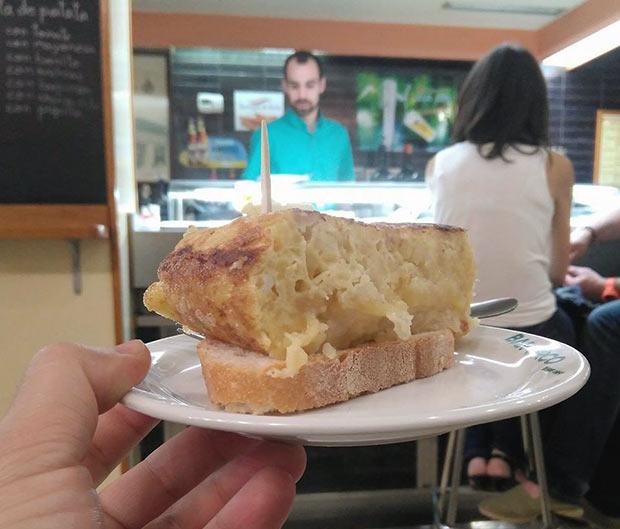 Tortilla en el Bar El Circo de Zaragoza