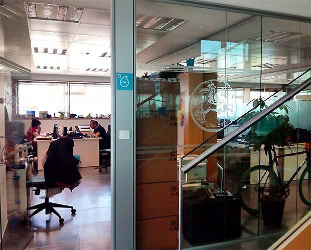 Hoy hemos estado en el CIEM Centro de Incubación Empresarial Milla Digital) que celebra su quinto aniversario el próximo mes de junio.