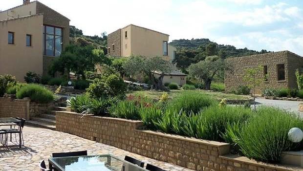 Terraza de uno de los apartamentos del Alén D'Aragón