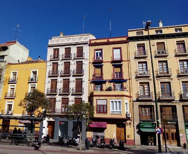 La casa en la que Goya vivió al menos durante los años 1768 y 1769, en Plaza de San Miguel 4