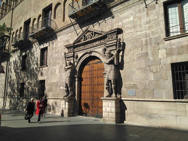 Palacio de los Luna en el Coso de Zaragoza
