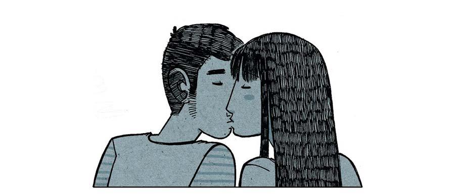"""Viñeta del cómic de Alfonso Casas """"Amores Minúsculos"""", publicado por Edicions de Ponent"""