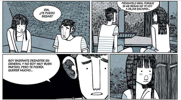"""Viñetas del cómic de Alfonso Casas """"Amores Minúsculos"""", publicado por Edicions de Ponent"""