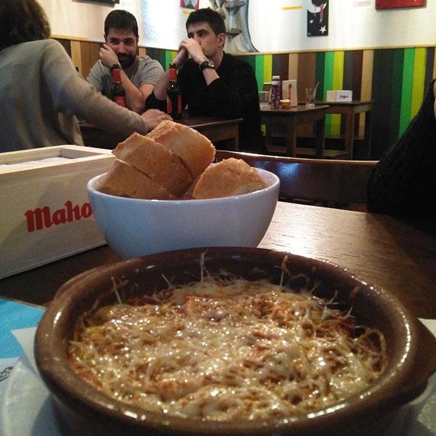 Platos vegetarianos en le restaurante Barrio Sur