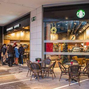 Interior del Starbucks Zaragoza