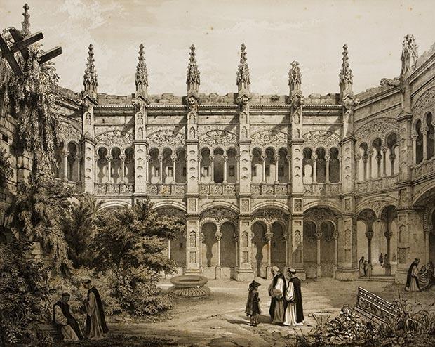 Claustro del monasterio de Santa Engracia antes de los Sitios de Zaragoza