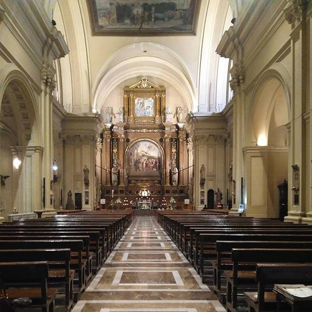 interior de la iglesia de santa engracia