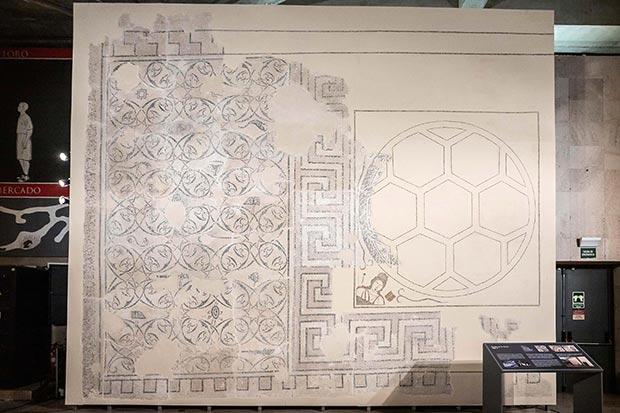 mosaico las musas foro romano caesar augusta