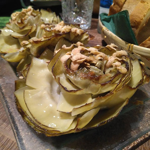 Alcachofa, gran materia prima tocada de la mejor manera en el restaurante Atípico