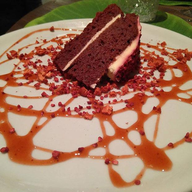 Red Velvet en el restaurante Atípico de Zaragoza