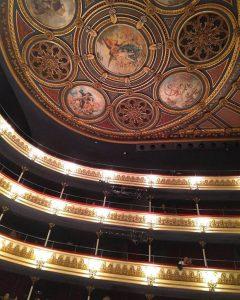 Teatro Principal de Zaragoza, Pinturas del Techo
