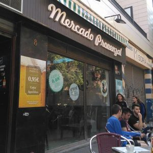 Terraza del Mercado Provenzal de Zaragoza