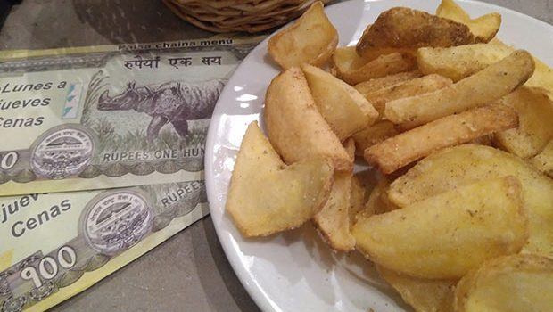 Patatas Nepalís en el Café del Tibet