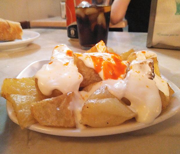 Patatas Bravas en Los Zagales