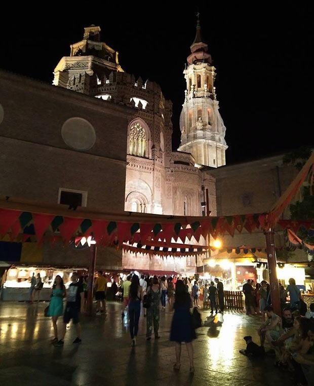Mercado Medieval de las Tres Culturas de Zaragoza en la Plaza de San Bruno