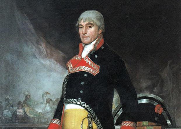Retrato del militar y explorador español Félix de Azara, conocido como el Darwin español