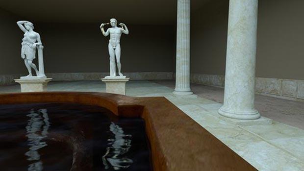 Las termas públicas de Cesaraugusta fueron construidas en el siglo I d. C., en la época del inicio de la dinastía Julio-Claudia y disponían de baños fríos, templados, calientes y sauna, gimnasio, sala de masajes, biblioteca, etc.