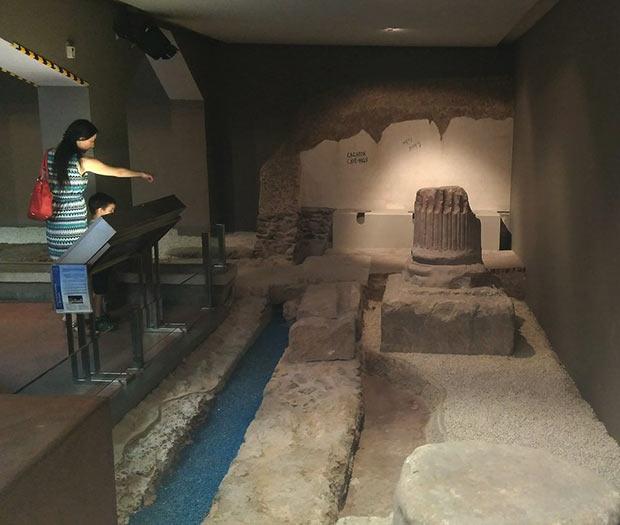 Museo de las Termas Públicas, Letrinas Romanas