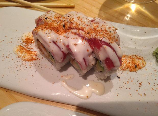 Maki Acevichado en el Restaurante Uasabi