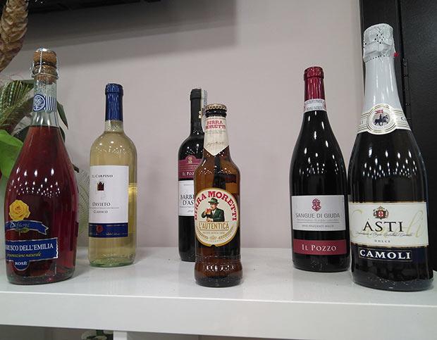Pizzería Da Claudio, Vinos