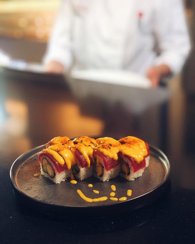 sushi en el restaurante uasabi zaragoza