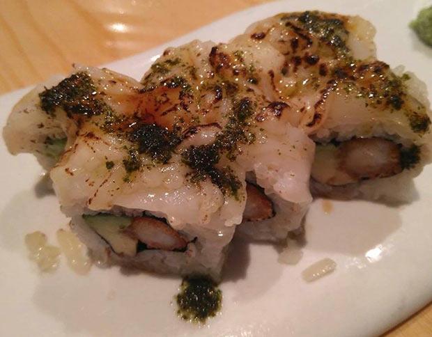 Parmesano Maki en el restaurante Uasabi