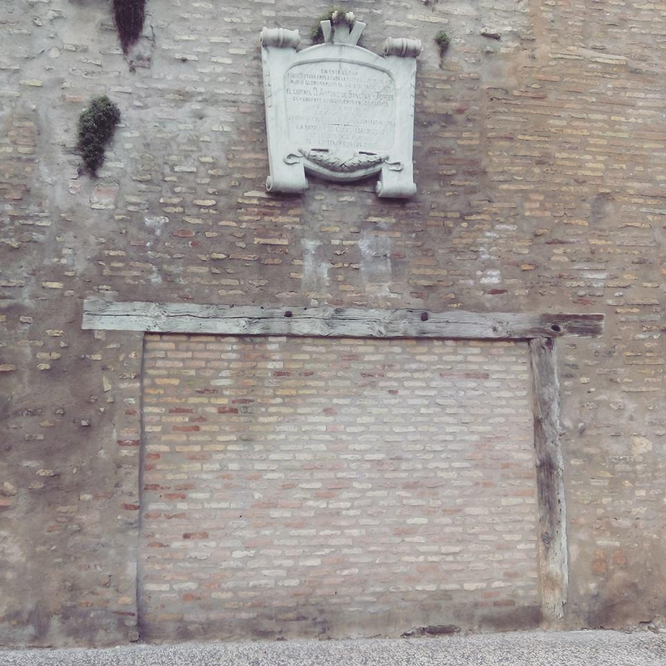 La Batería Palafox estuvo situada en la muralla de ronda (calle Asalto)