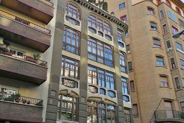 Casa Palao en el Paseo Sagasta de Zaragoza