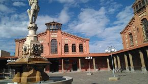Fuente del Buen Pastor en el Antiguo Matadero de Zaragoza