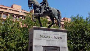 Monumento ecuestre del General Palafox, Capitán General de Aragon entre 1808 y 1809, en la plaza Jose Maria Forque
